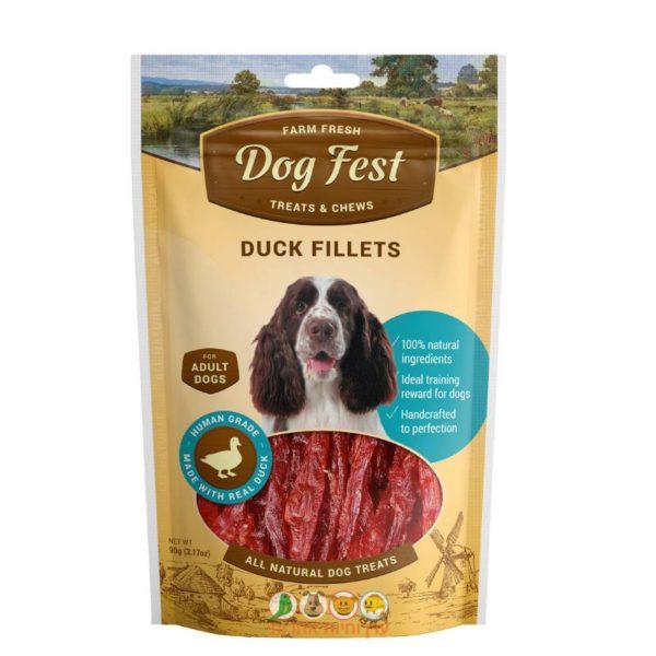 דוג פסט, חטיף לכלבים בוגרים, פילה בשר ברווז, 90 גרם – Dog Fest