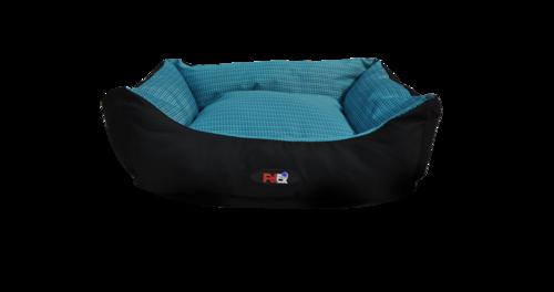 מיטה לכלב בצבע כחול מבד הדוחה מים בגודל 75X60X22 פטקס