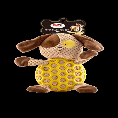 פטקס בובת משחק בדמות כלב בצבע חום