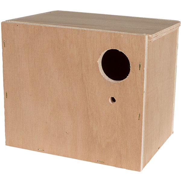 תא הטלה לציפורי אהבה עם מקל