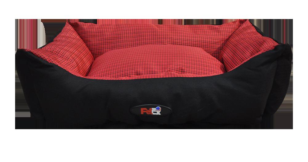 מיטה לכלב בצבע אדום מבד הדוחה מים גודל 90X70X24פטקס\