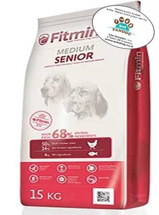 """סופר-פרימיום מדיום סניור לכלבים מבוגרים מגזע בינוני ( 15 ק""""ג)"""