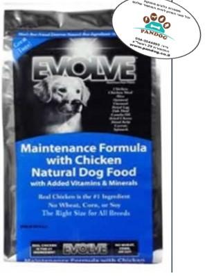 """איוולב עוף ואורז 6.8 ק""""ג מזון לכלב בוגר"""