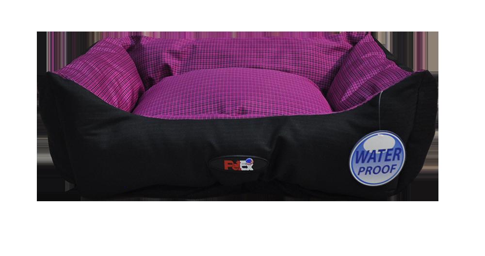 מיטה לכלב בצבע סגול מבד הדוחה מים גודל 90X70X24 פטקס