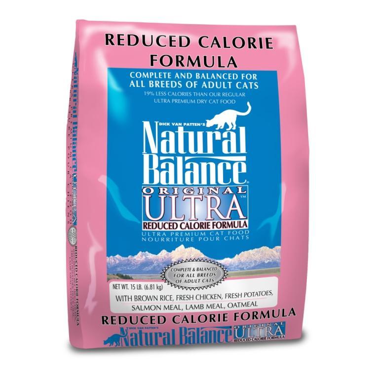 """נטורל באלנס מזון לחתול אולטרה מופחת קלוריות 6.81 ק""""ג Natural Balance Reduced"""