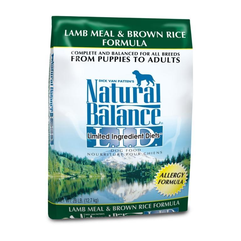 """נטורל באלנס מזון לכלב כבש ואורז חום 12.7 ק""""ג Natural Balance Lamb & Brown Rice"""