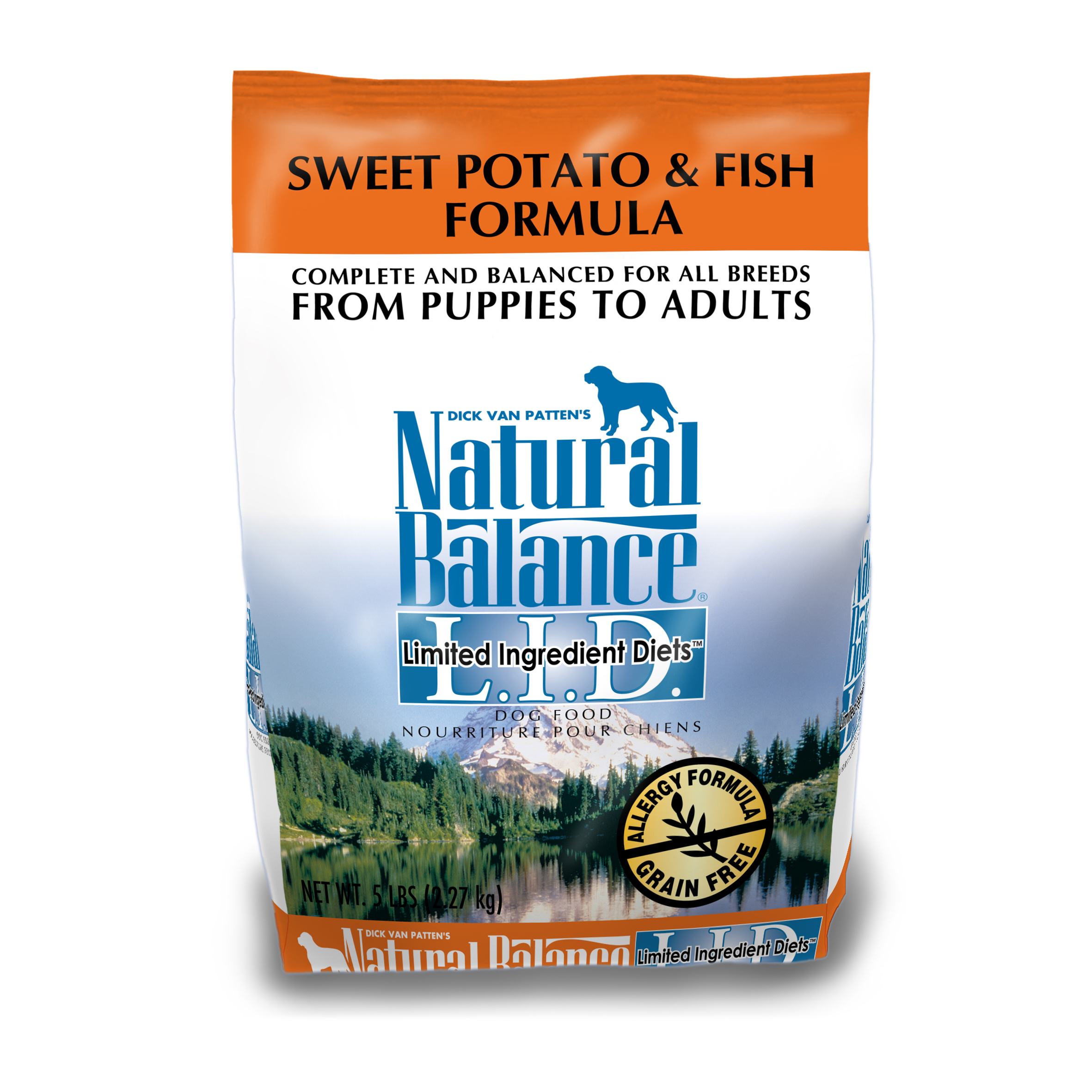"נטורל באלנס מזון לכלב דגים ובטטה 2.04 ק""ג Natural Balance Salmon & Sweet Potato"