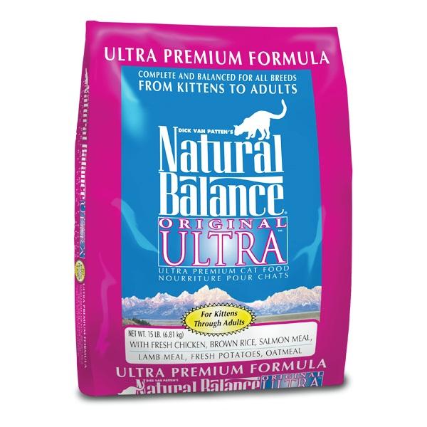 """נטורל באלנס מזון לחתול אולטרה פרמיום 6.81 ק""""ג Natural Balance Ultra"""