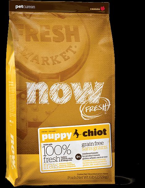 """מתכון מזון לגורי כלבים ללא דגנים 11.34 ק""""ג"""