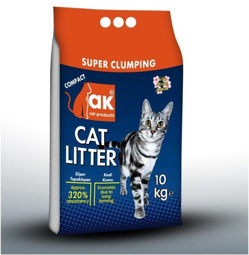 """חול מצע לחתול AK מתגבש דק נטורל 10 ק""""ג"""