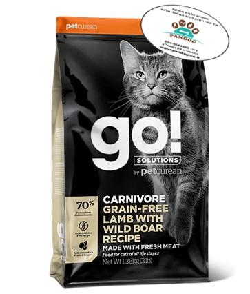 """מתכון טלה + חזיר בר ללא דגנים לחתולים 3.7 ק""""ג"""