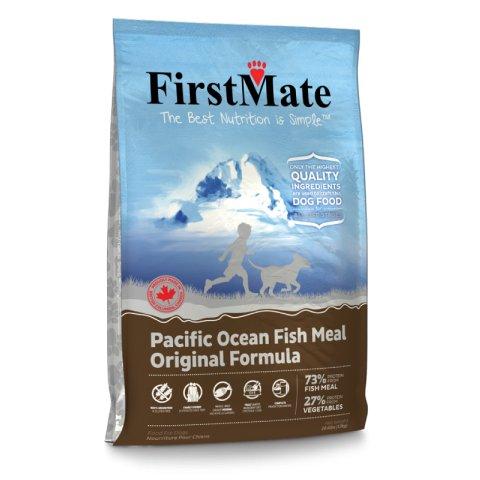 """מזון פירסט מייט ללא דגנים לכלבים דגים 6.6 ק""""ג אפור"""
