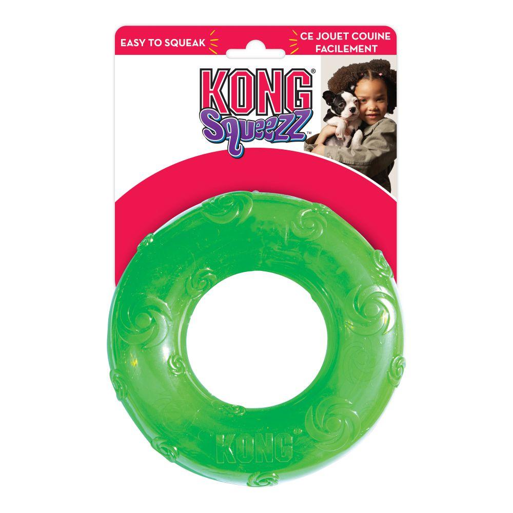 סקוויז צפצפני טבעת M צעצוע לכלב קונג