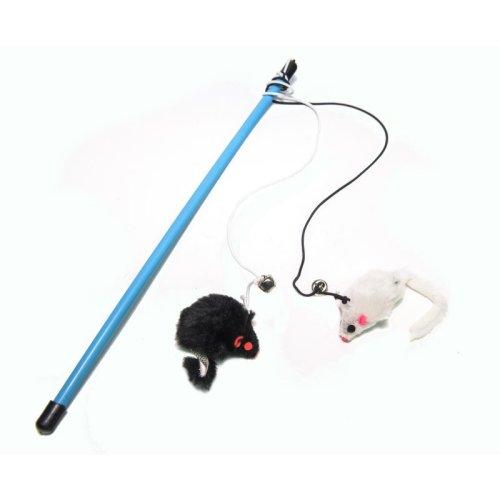 צעצוע לחתול חכה לחתול 2 עכברים