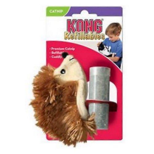 קונג לחתול בובת קטניפ קיפוד חום