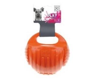 צעצוע לכלב – כדור ידית אקרו (כתום)